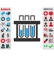 Test Tubes Icon vector image vector image