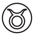 thin line taurus sign icon vector image vector image