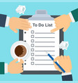 to do list concept vector image vector image