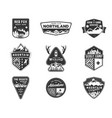 traveling outdoor badge collection scout camp vector image vector image