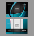 tri-fold business brochure template three-sided t vector image vector image