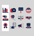 united states elections political election vector image vector image