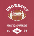 University football athletic dept vector image vector image