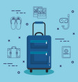 vacations travel bag with handle on wheels vector image