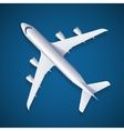 White Airplane vector image vector image