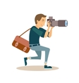 Working Photographer in Flat Style vector image vector image
