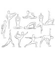 yaga asana woman doing yoga or pilates exercise vector image