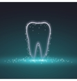 tooth magic tooth background vector image