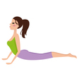 Young girl doing yoga exercise isolated on white vector image