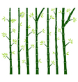 Bamboo Tree Wall Decal vector image