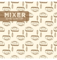 Mixer Vintage style vector image