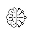 artificial intelligence - line design single vector image