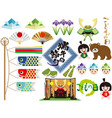 assorted elements for the japanese boys festival vector image vector image