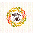 autumn foliage wreath poster seasonal sale label vector image vector image