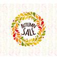 autumn foliage wreath poster seasonal sale label