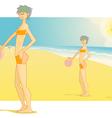 beach babe vector image vector image