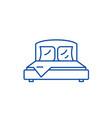 bedroom line icon concept bedroom flat vector image