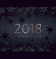 black new years banner gold 2018 inscription vector image vector image