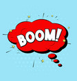 boom sound comic pop art style expression vector image vector image