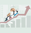bureaucratic obstacles to business growth vector image