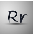 calligraphic hand-drawn marker or ink letter R vector image vector image