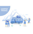 camper travel concept for web banner vector image