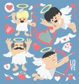 cartoon cupid bow and arrows vector image vector image