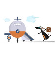 cartoon dog in the airport vector image vector image
