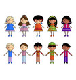 cartoon people of different nationalities vector image