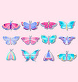 collection moths and butterflies vector image vector image