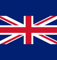 colored flag of great britain vector image vector image