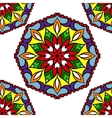Colorful circle flower mandalas vector image