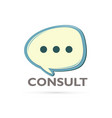 consult and speak balloon vector image