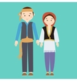 couple man woman turkish wearing turk turkey vector image