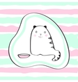 Cute cat for baby t-shirts vector image vector image