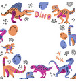 cute dinosaurs hand drawn color vector image vector image