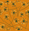 dandelion blowing floral seamless pattern vector image