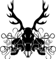 Deer skull and human skull composition vector image vector image