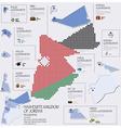 dot and flag map of hashemite kingdom of jordan vector image