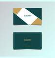 double-sided horizontal modern business card templ vector image