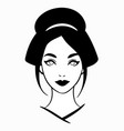 face a japanese geisha simple monochrome vector image vector image