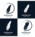 Feather elegant pen law firm lawyer writer vector image