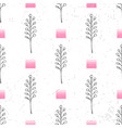 floral background seamless pattern black and white vector image vector image
