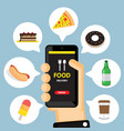 food app vector image
