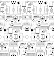 football dodle seamless pattern vector image vector image