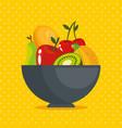fresh organic fruit concept vector image vector image