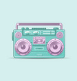 funky colorful boom box vector image vector image
