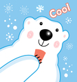 Funny portrait of a polar bear vector image