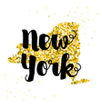 Golden glitter of the state of New York vector image vector image