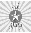 Independence Day 4th of July flat Label vector image vector image